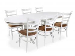 Обеденная группа для столовой и гостиной Стол 2000 (wh)+стул 2000(wh) [WHITE] (Mr. Kim)