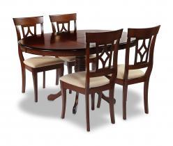 Обеденная группа для столовой и гостиной Стол OP-T4EX + 4 шт. стула AM-SC2 [TOBACCO] (Mr. Kim)