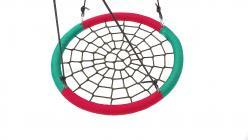 Качели гнездо 110 см красно-зеленые четвертинки (Облачный замок)