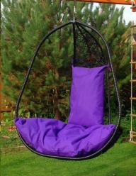 Подвесное кресло Корфу черное XXL (Облачный замок)
