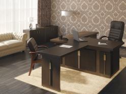 Комплект офисной мебели Чикаго К1 [Темный дуб] (Pointex)