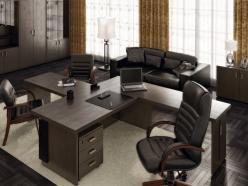 Комплект офисной мебели Чикаго К2 [Темный дуб] (Pointex)