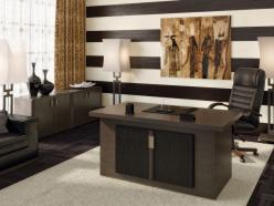 Комплект офисной мебели Чикаго К4 [Темный дуб] (Pointex)