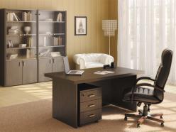 Комплект офисной мебели Чикаго К5 [Темный дуб] (Pointex)