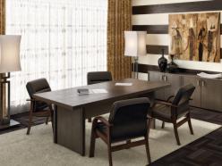 Комплект офисной мебели Чикаго П К1 [Темный дуб] (Pointex)