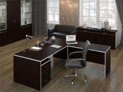 Комплект офисной мебели Комплект Свифт Темный К1 [Темный дуб] (Pointex)