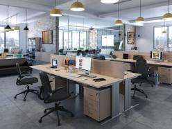 Комплект офисной мебели Свифт К1 Светлый [Светлый дуб] (Pointex)