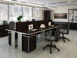 Комплект офисной мебели Свифт К1 Темный [Темный дуб] (Pointex)