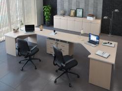 Комплект офисной мебели Свифт К2 Светлый [Светлый дуб] (Pointex)