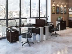 Комплект офисной мебели Свифт К2 Темный [Темный дуб] (Pointex)