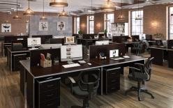 Комплект офисной мебели Свифт К3 Темный [Темный дуб] (Pointex)