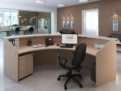 Комплект офисной мебели Зум Светлый К1 [Светлый дуб] (Pointex)