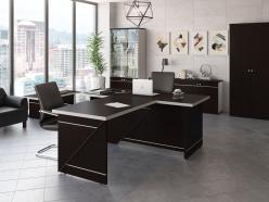Комплект офисной мебели Зум Темный К5 [Темный дуб] (Pointex)