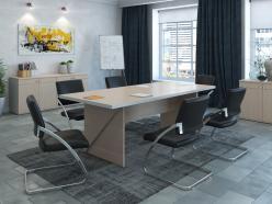 Комплект офисной мебелз Зум Светлый ПК1 [Светлый дуб] (Pointex)