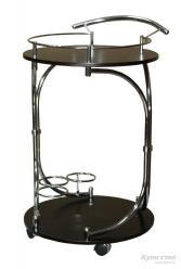 Сервировочный столик SC-5088-WD Брут (Коричневый / Хром)  (Рэд энд Блэк)