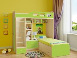 Двухъярусная кровать Астра-4 Дуб Молочный (РВ Мебель)