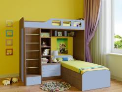 Двухъярусная кровать Астра-4 Дуб Шамони (РВ Мебель)