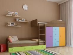 Двухъярусная кровать Астра-6 Дуб Шамони (РВ Мебель)
