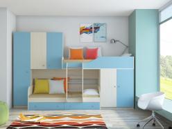 Двухъярусная кровать Лео (РВ Мебель)
