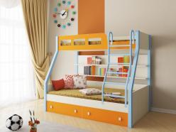 Двухъярусная кровать Рио Дуб молочный (РВ Мебель)