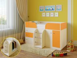 Кровать-чердак Астра-5 Дуб Молочный (РВ Мебель)