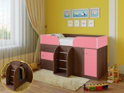 Кровать-чердак Астра-5 Дуб Шамони (РВ Мебель)