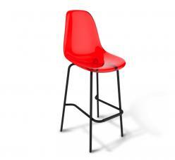Барный стул SHT-S29 PC [Красный / Черный муар] (Sheffilton)