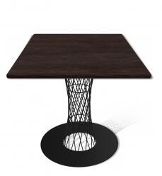 Кухонный стол SHT-ТU3 + SHT-TT 80/80 МДФ [Венге / Черный] (Sheffilton)