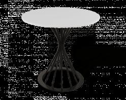 Кухонный стол SHT-ТU4 + SHT-TT 80 МДФ [Черный / Белый матовый] (Sheffilton)