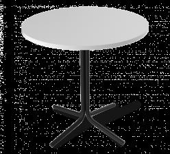 Кухонный стол SHT-ТU7 + SHT-TT 80 МДФ [Черный / Белый матовый] (Sheffilton)