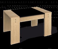 Журнальный столик Столик журнальный 210 [Дуб беленый / Черный] (Sheffilton)