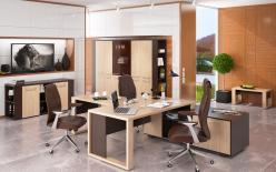 Комплект офисной мебели Альто К1 [Дуб Девон / Венге Магия] (SKYLAND)