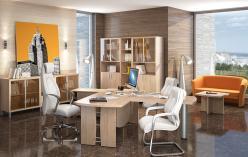 Комплект офисной мебели Бон К2 [Дуб Девон] (SKYLAND)