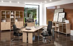 Комплект офисной мебели Борн К3 [Дуб Девон] (SKYLAND)