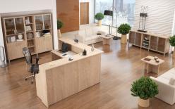 Комплект офисной мебели Декс К1 [Дуб Девон] (SKYLAND)
