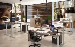 Комплект офисной мебели Икстен Ап К1 [Дуб сонома / Рено] (SKYLAND)