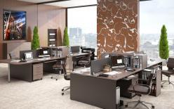 Комплект офисной мебели Икстен К2 [Дуб сонома / Рено] (SKYLAND)