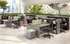 Комплект офисной мебели Икстен К3 [Дуб сонома / Рено] (SKYLAND)