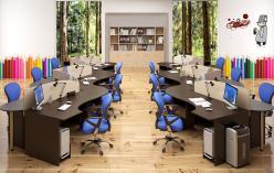 Комплект офисной мебели Симпл К2 [Легно Светлый / Легно Темный] (SKYLAND)