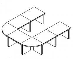 Стол для переговоров В305+В601 [Венге Магия] (SKYLAND)