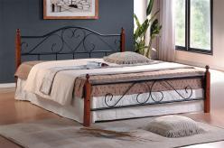 Кровать AT-815 QUEEN 1600 Х 2030 [Гевея / Металл] (TetChair)