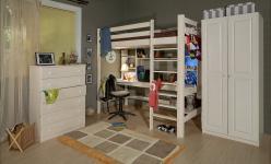 Комплект детской мебели Классик Эмаль белая К1 (Timberica)