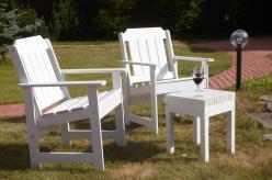 Комплект садовой мебели 2 Кресла Ярви + табурет Лахти [Уайт] (Timberica)