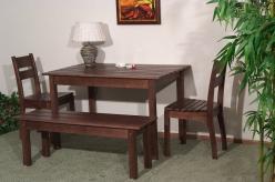 Комплект садовой мебели Скамья дачная №1 + 2 стула дачного + стол дачный №2 [Капучино] (Timberica)