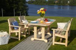 Комплект садовой мебели Скамья Ярви + 2 кресла Ярви + стол Ярви [Натура] (Timberica)