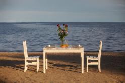 Комплект садовой мебели Стол Лахти + 2 стула дачного [Натура] (Timberica)