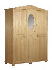 Шкаф распашной Шкаф 3-створчатый Айно [Бесцветный лак] (Timberica)
