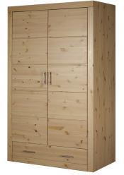 Шкаф распашной Шкаф комбинированный Брамминг [Бесцветный лак] (Timberica)