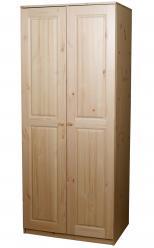 Шкаф распашной Шкаф платяной Классик [Бесцветный лак] (Timberica)