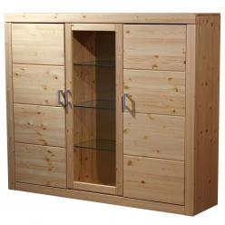 Шкаф-витрина Буфет 3-створчатый Брамминг (Timberica)